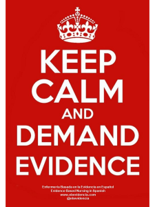 Keep Calm and demand evidence - copia